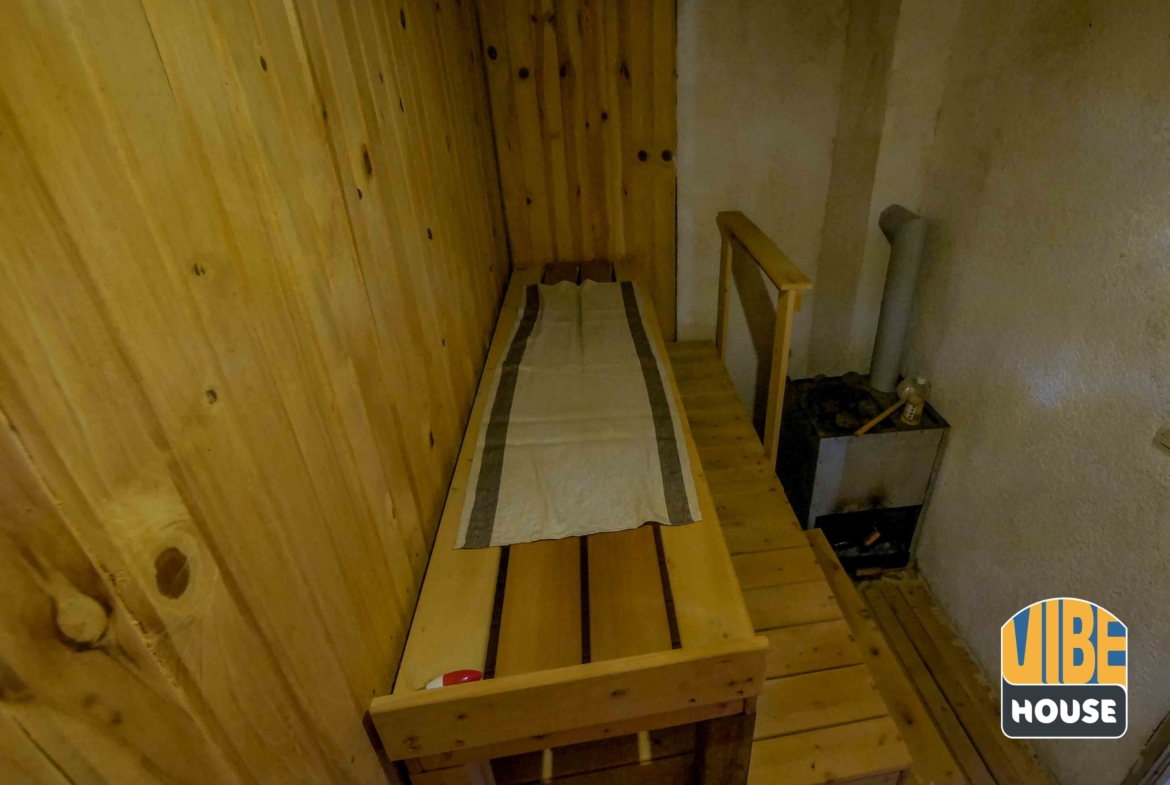 Sauna in studio apartment for rent in Kigali