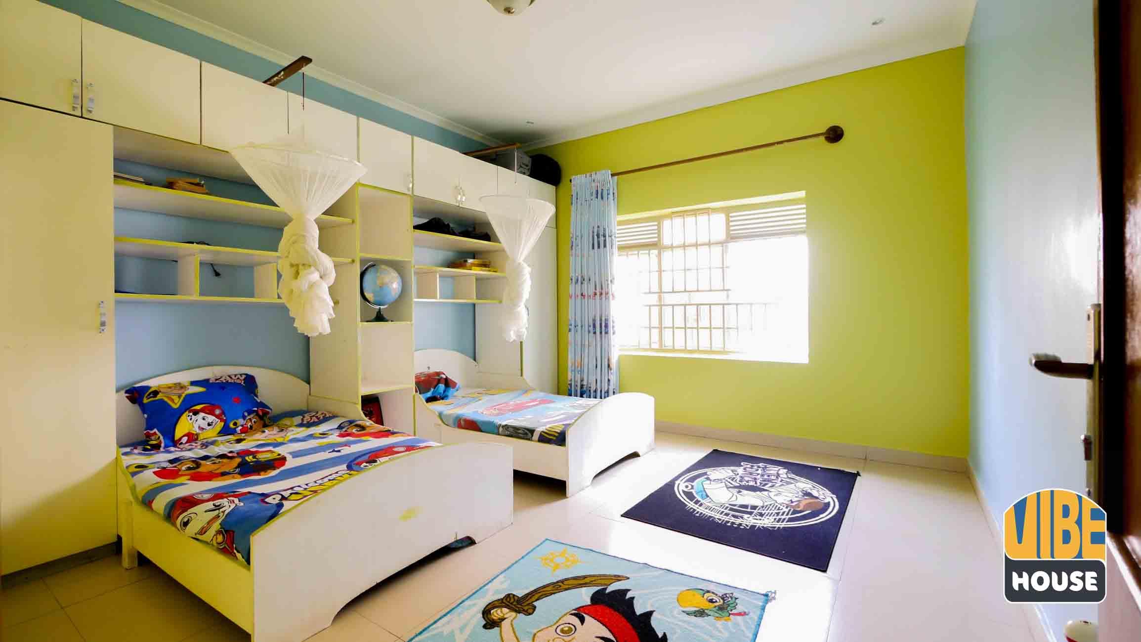 Furnished house for rent with fun kids furniture in Kibagabaga, Kigali