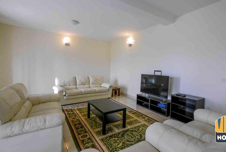 Beautiful interior design in house for rent in Kibagabaga, Kigali