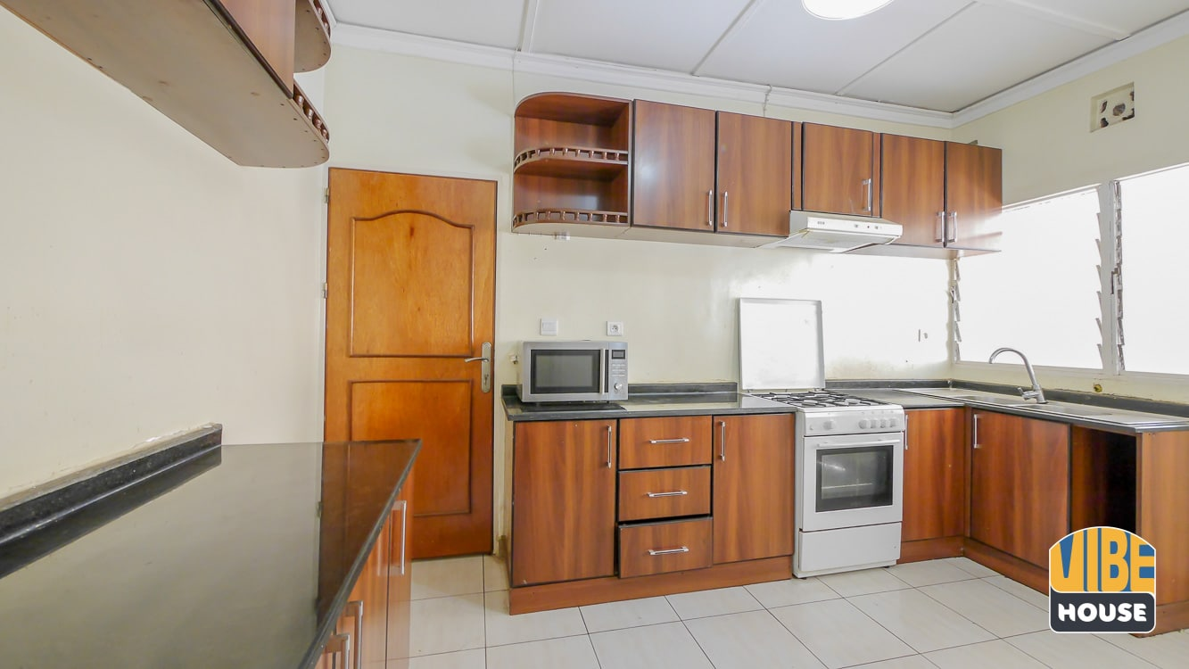 Modern kitchen fully furnished in house for rent Kimihurura, Kigali