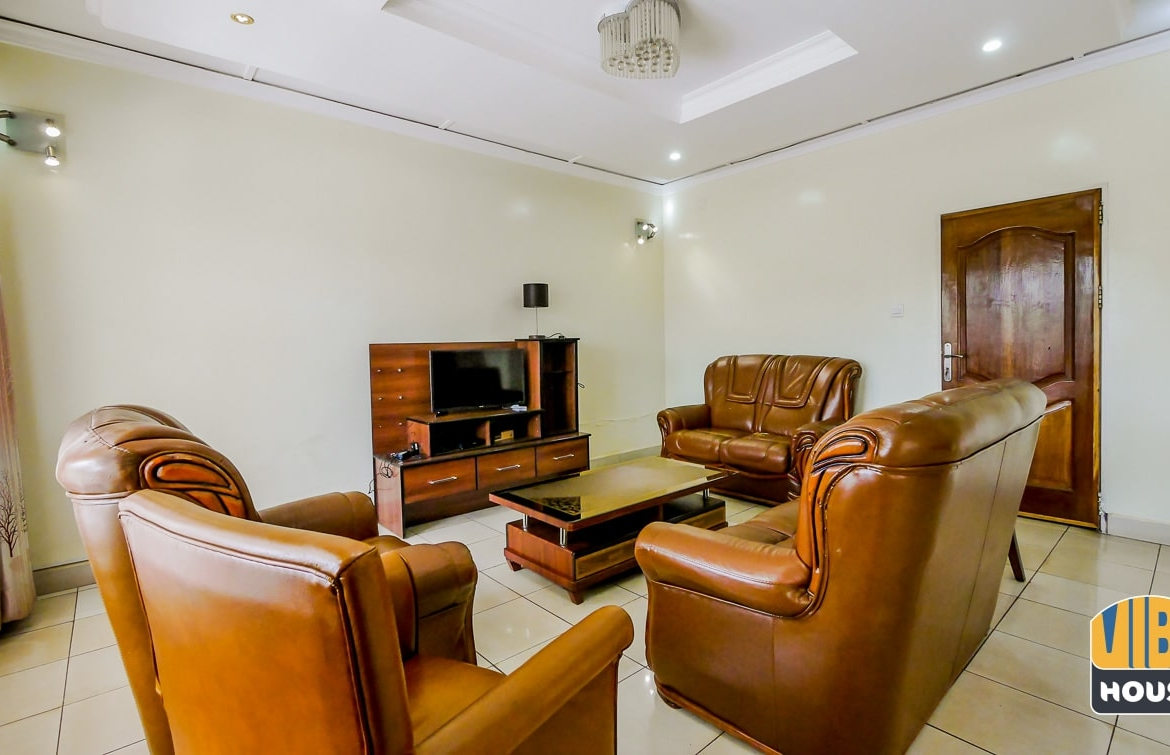 Furnished living room in house for rent in Kimihurura, Kigali