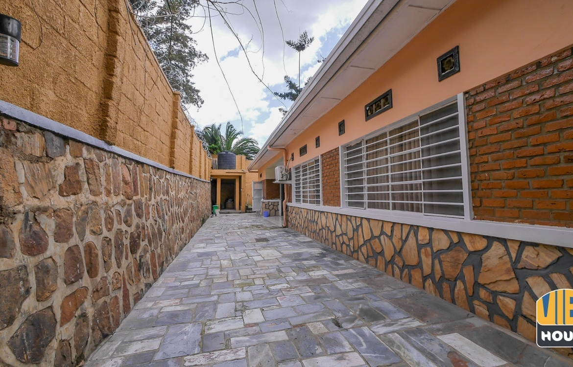 Backyard of house for rent in Kimihurura, Kigali