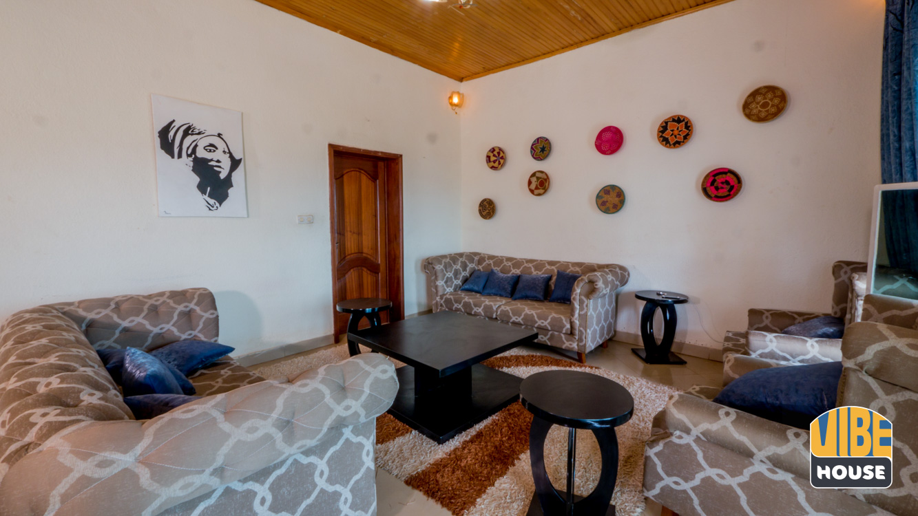 Living area with African decor