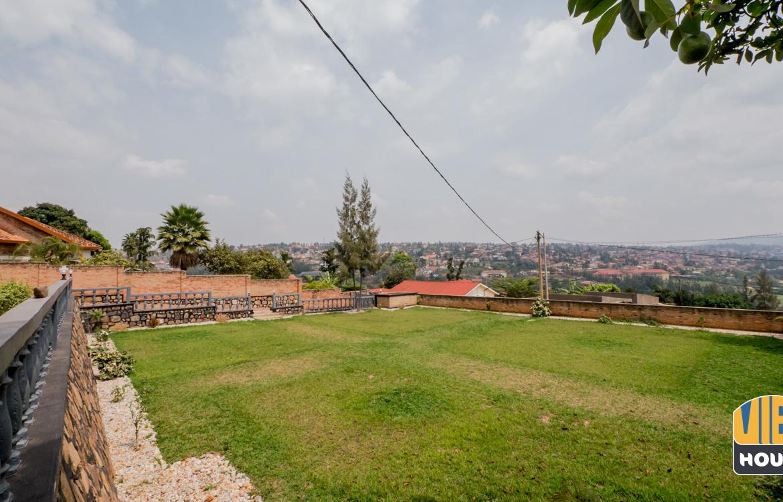 beautiful garden overlooking Rwandan hills