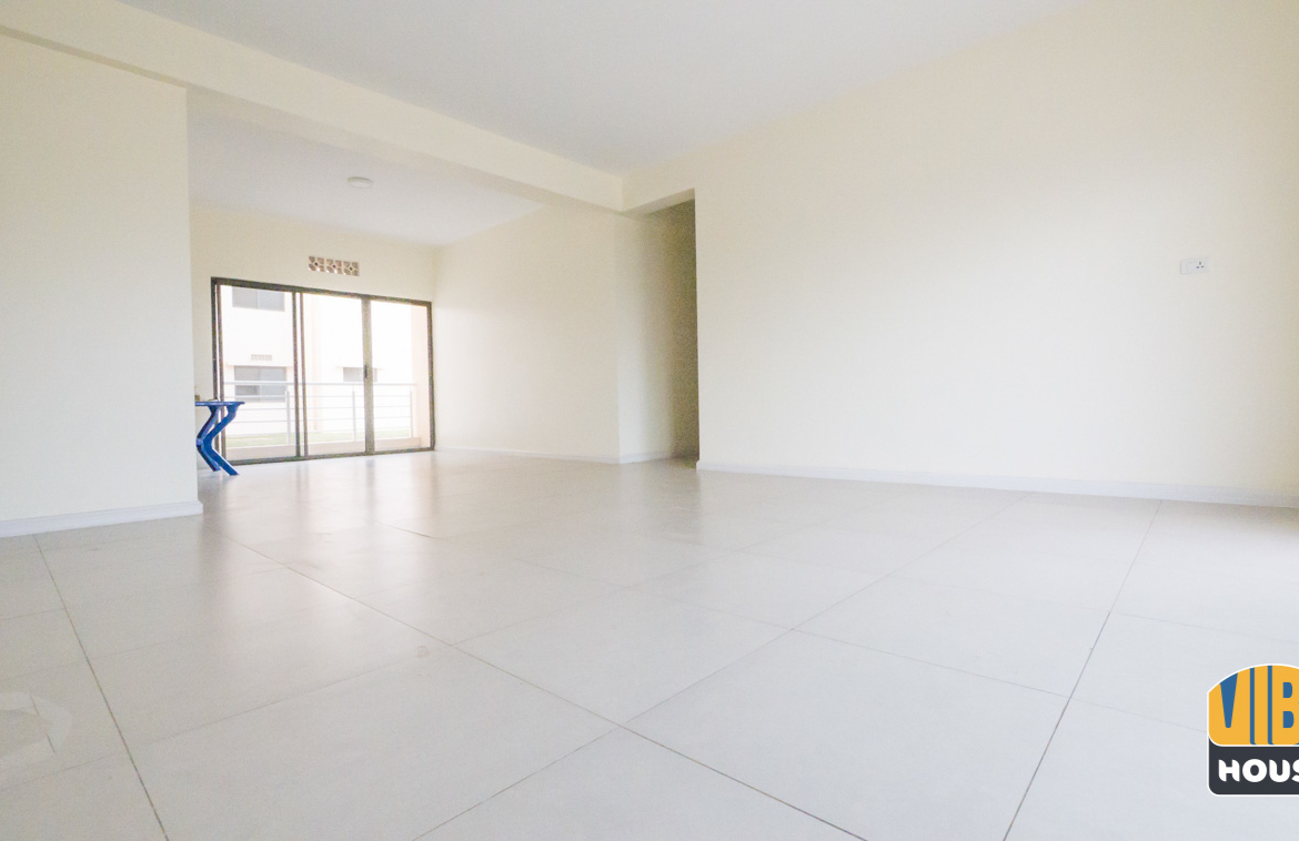 Living room area of apartment for rent in Kigali