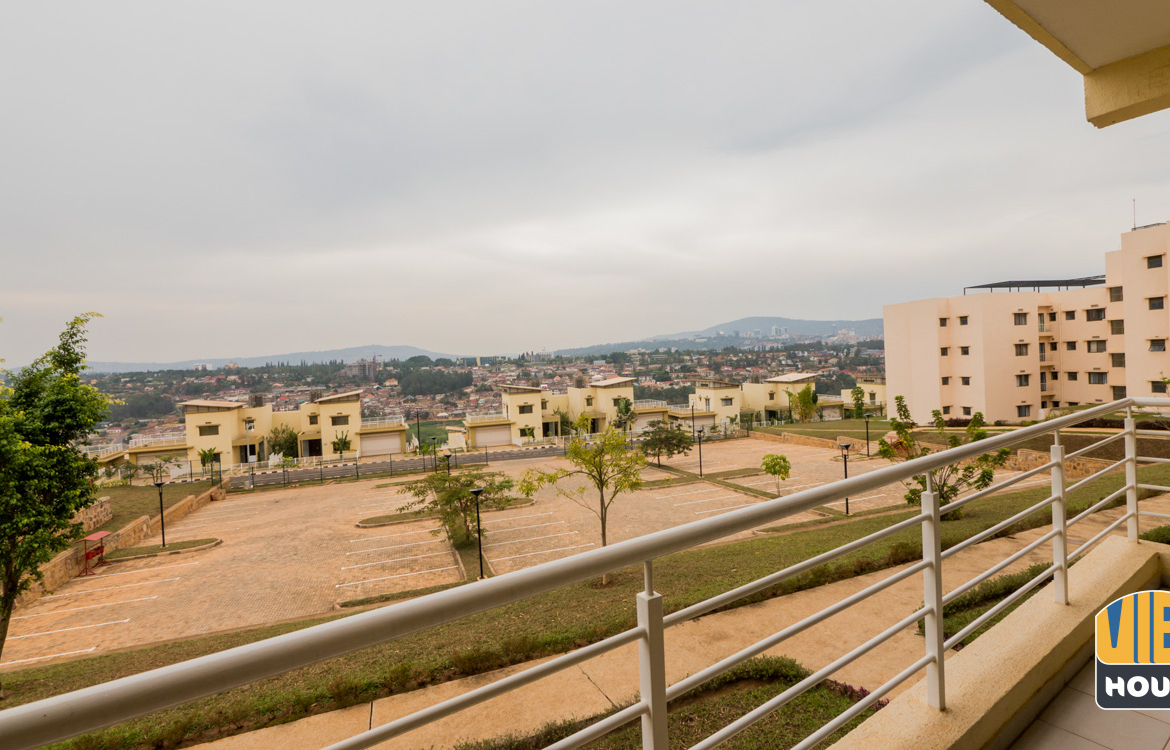 View from apartment for rent in Gacuriro, Kigali