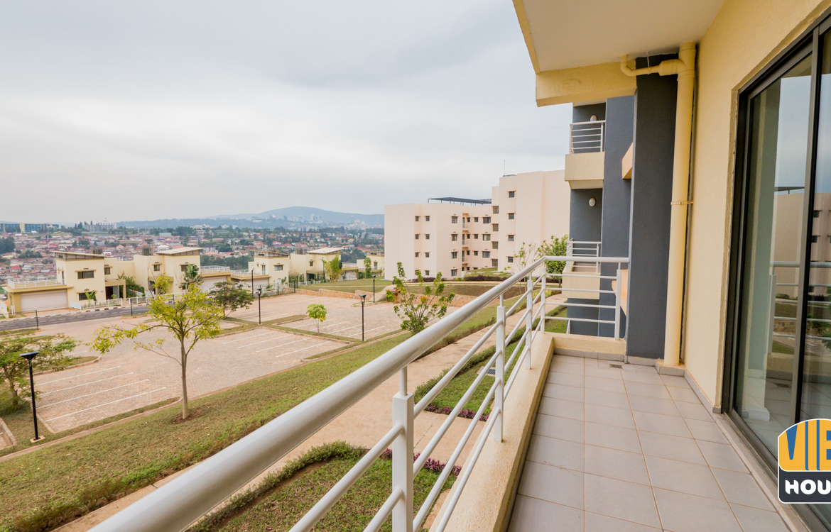 Balcony of apartment for rent in Vision City, Kigali