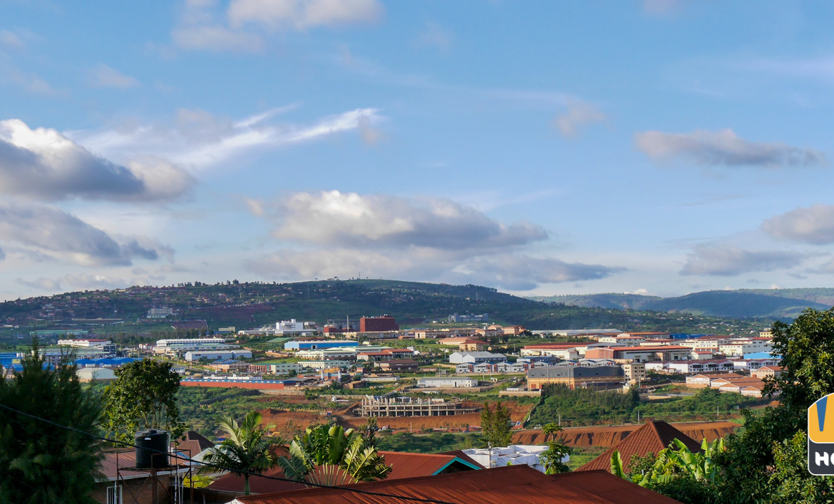 View of Kigali from Apartment in Kanombe