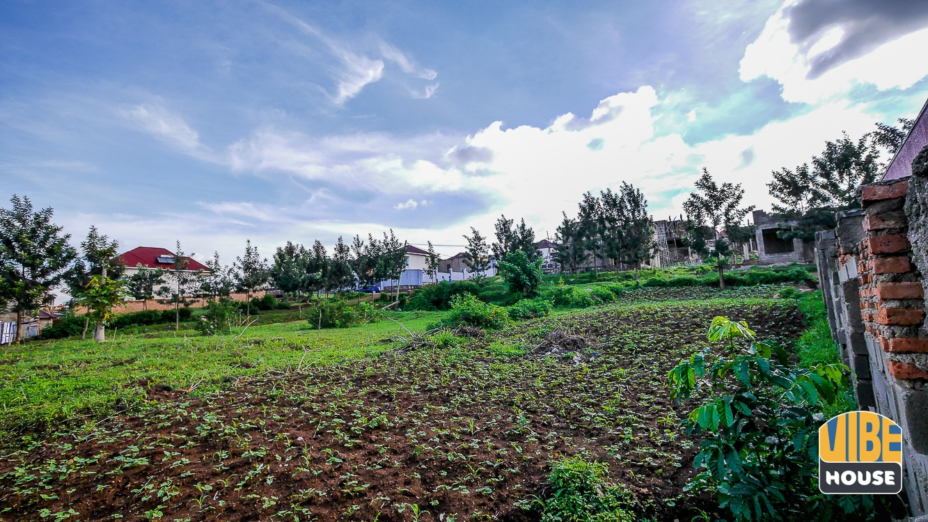 View from bottom of plot of land for sale in Kagarama