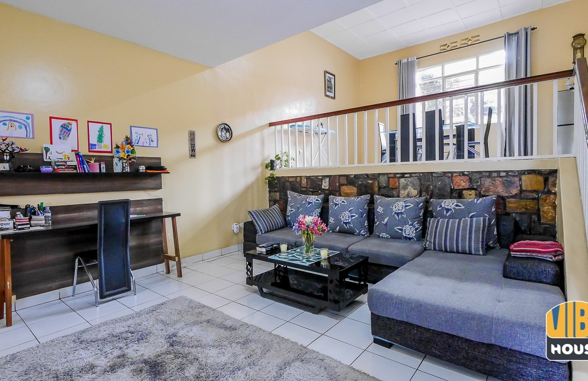 Living room of house for rent in Gacuriro, Kigali