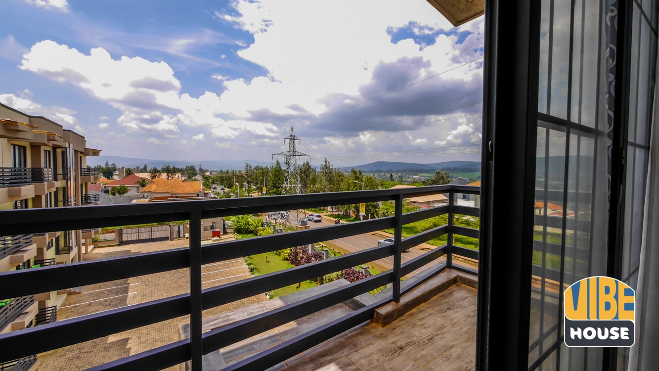 Balcony with magnificent view of Kigali
