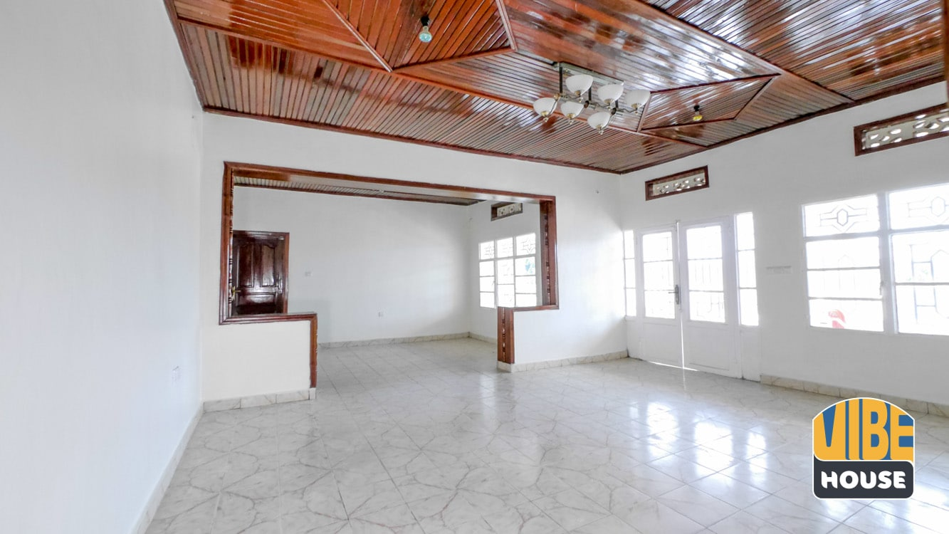 Living and dining area in Gisozi home rental, Kigali
