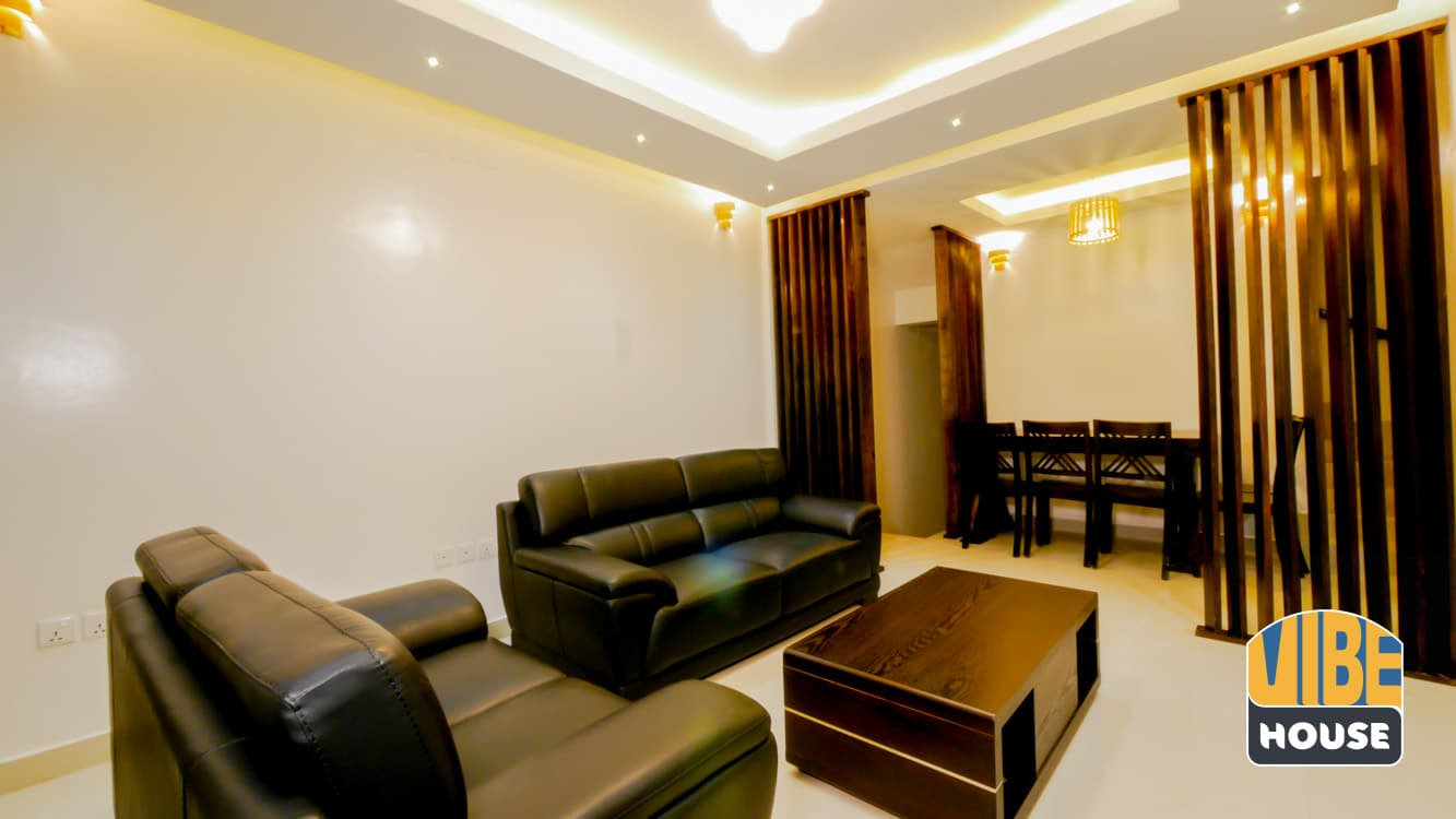 Living and dining area at Luxurious House for rent in Kicukiro