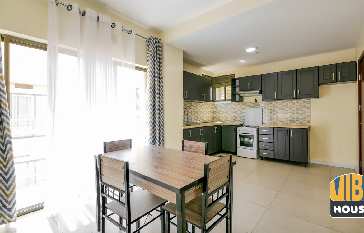 Kitchen and dining area in Apartment for rent in vision city