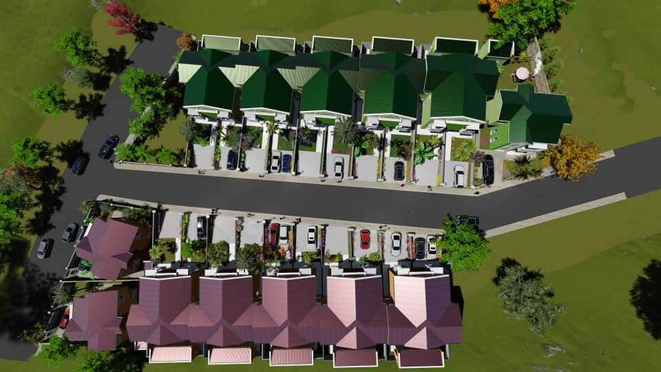 Estate with villa and townhouses for sale in nyarutarama, Kigali