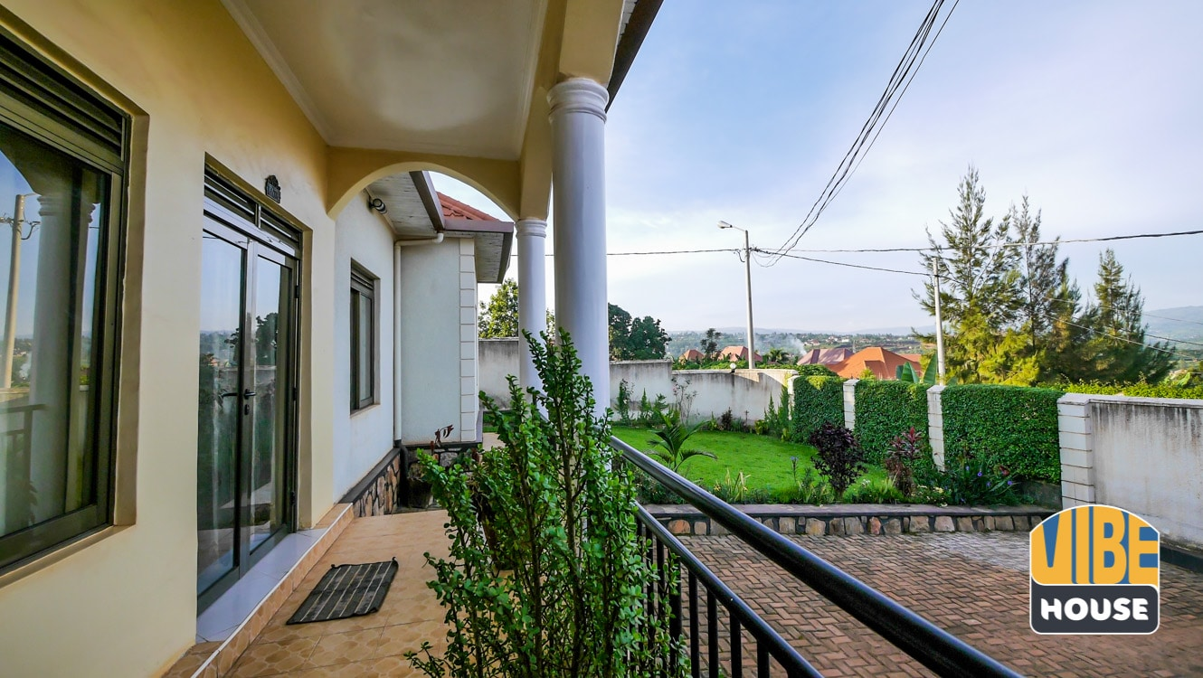 Balcony at spacious house for sale in Kanombe, Kigali