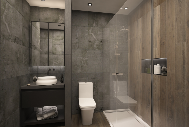 Guest Bathroom in Apartment for Sale at Baraka Residence in Nyarutarama, Kigali