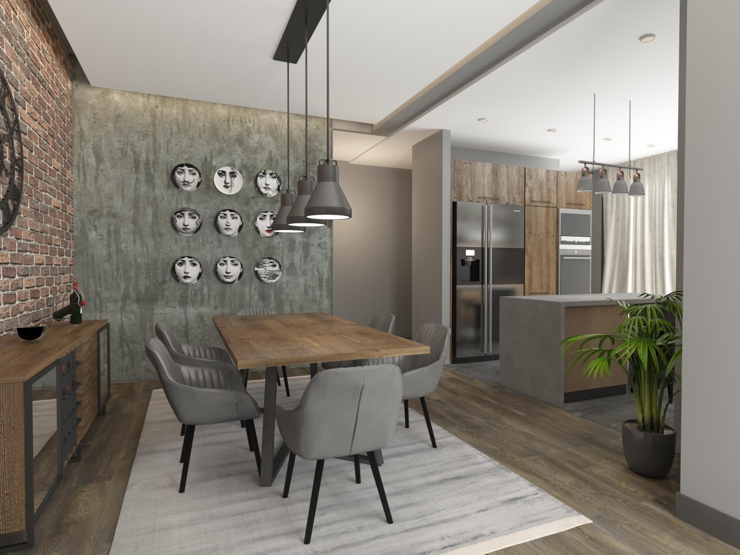Dining room in Apartment for Sale at Baraka Residence in Nyarutarama, Kigali