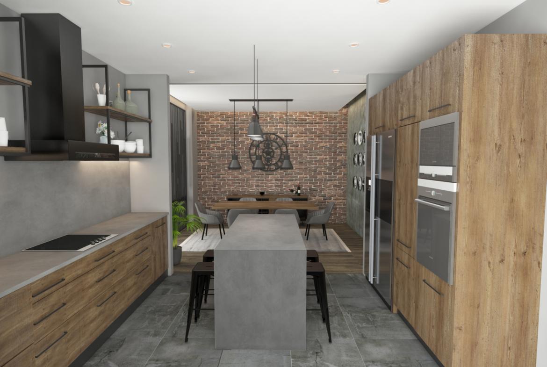 Kitchen in Apartment for Sale at Baraka Residence in Nyarutarama, Kigali
