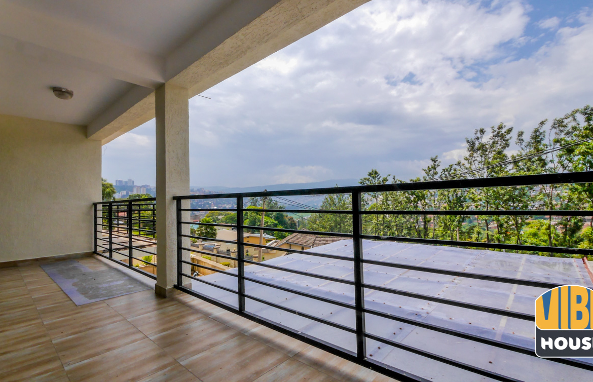 Balcony: 2-bedroom apartment for rent in Kigali