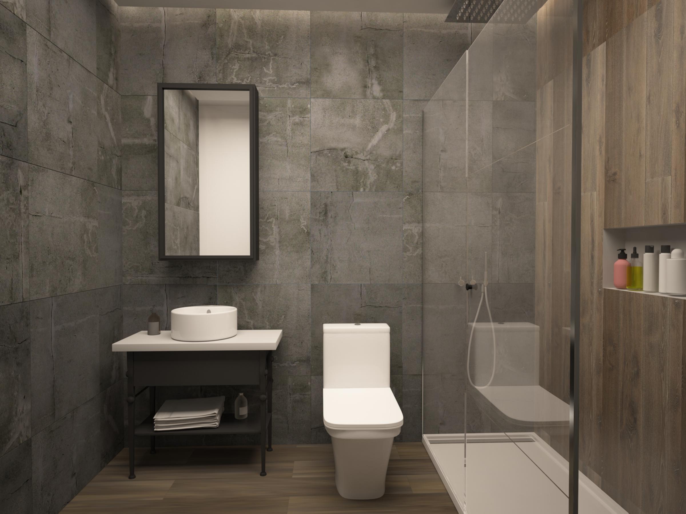 Guest Bathroom in Apartment for Sale in Baraka Residence in Nyarutarama, Kigali