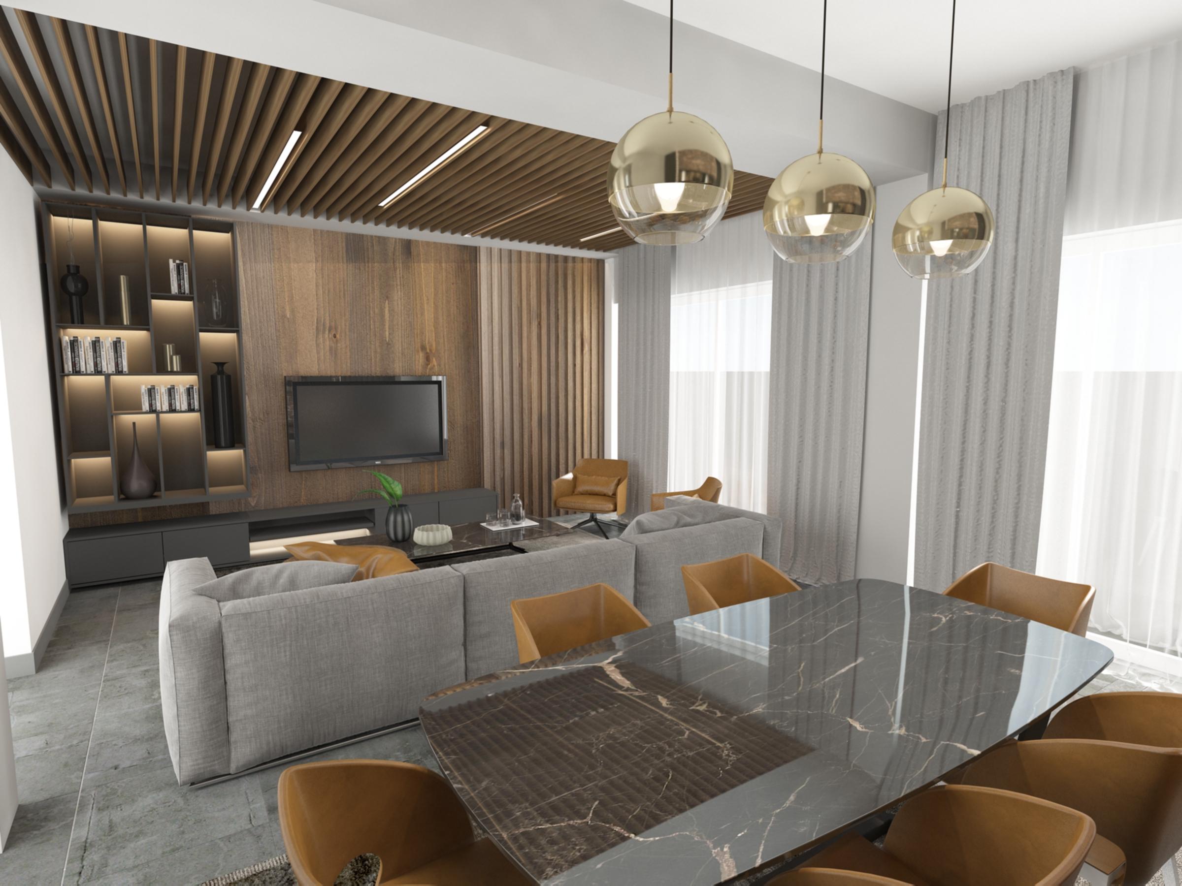 Living room in Apartment for Sale at Baraka Residence in Nyarutarama, Kigali