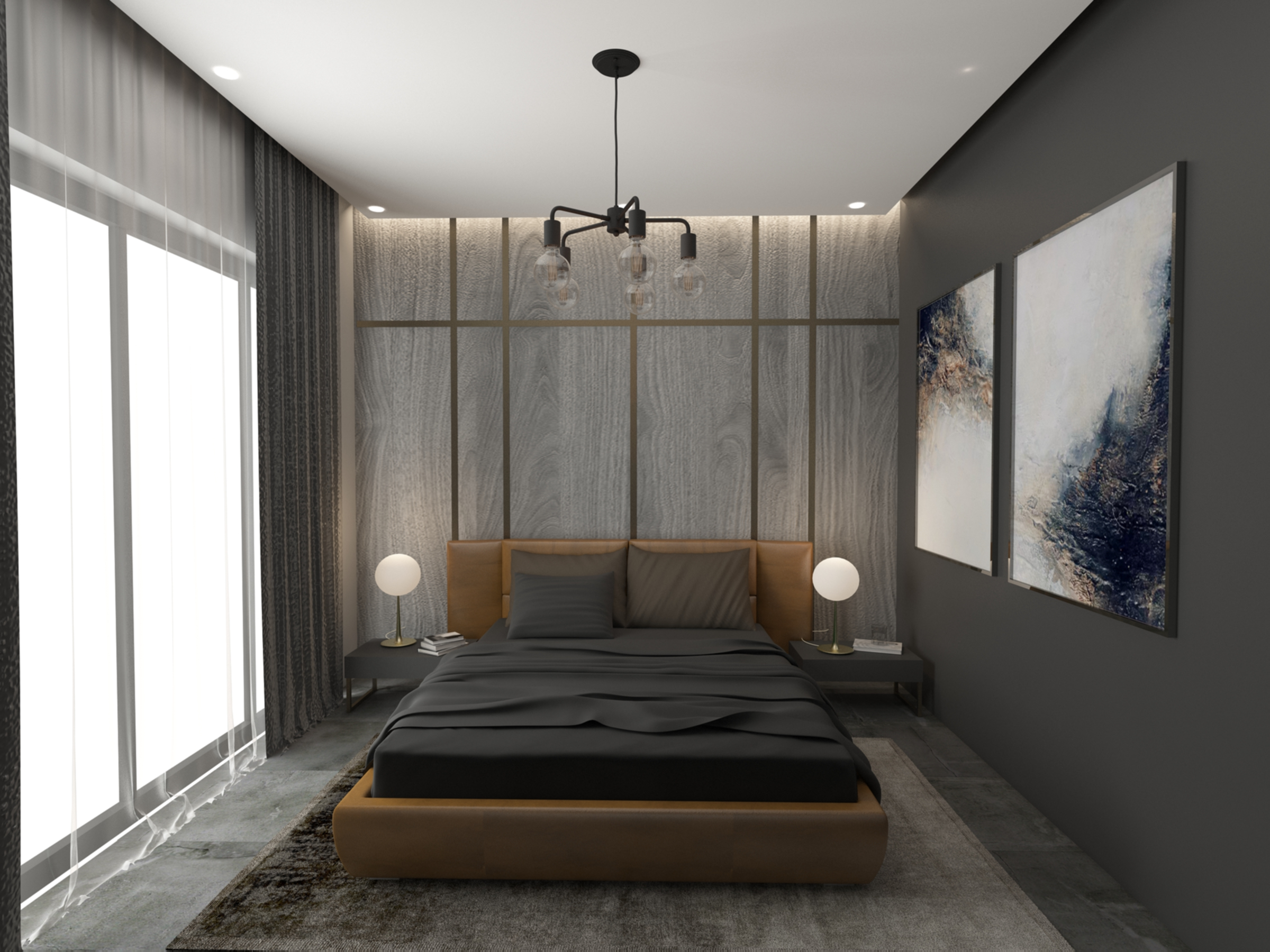 Master bedroom in Apartment for Sale at Baraka Residence in Nyarutarama, Kigali