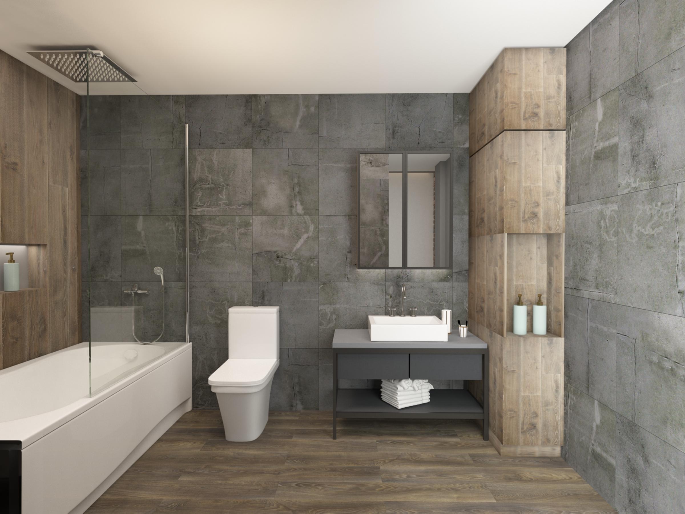 Master bathroom in Apartment for Sale at Baraka Residence in Nyarutarama, Kigali