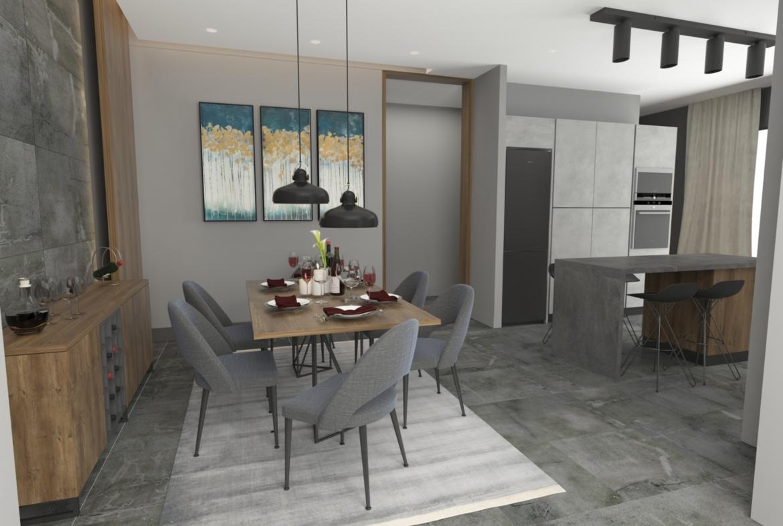 Dining room: Penthouse Apartment for Sale at Baraka Residence in Nyarutarama, Kigali