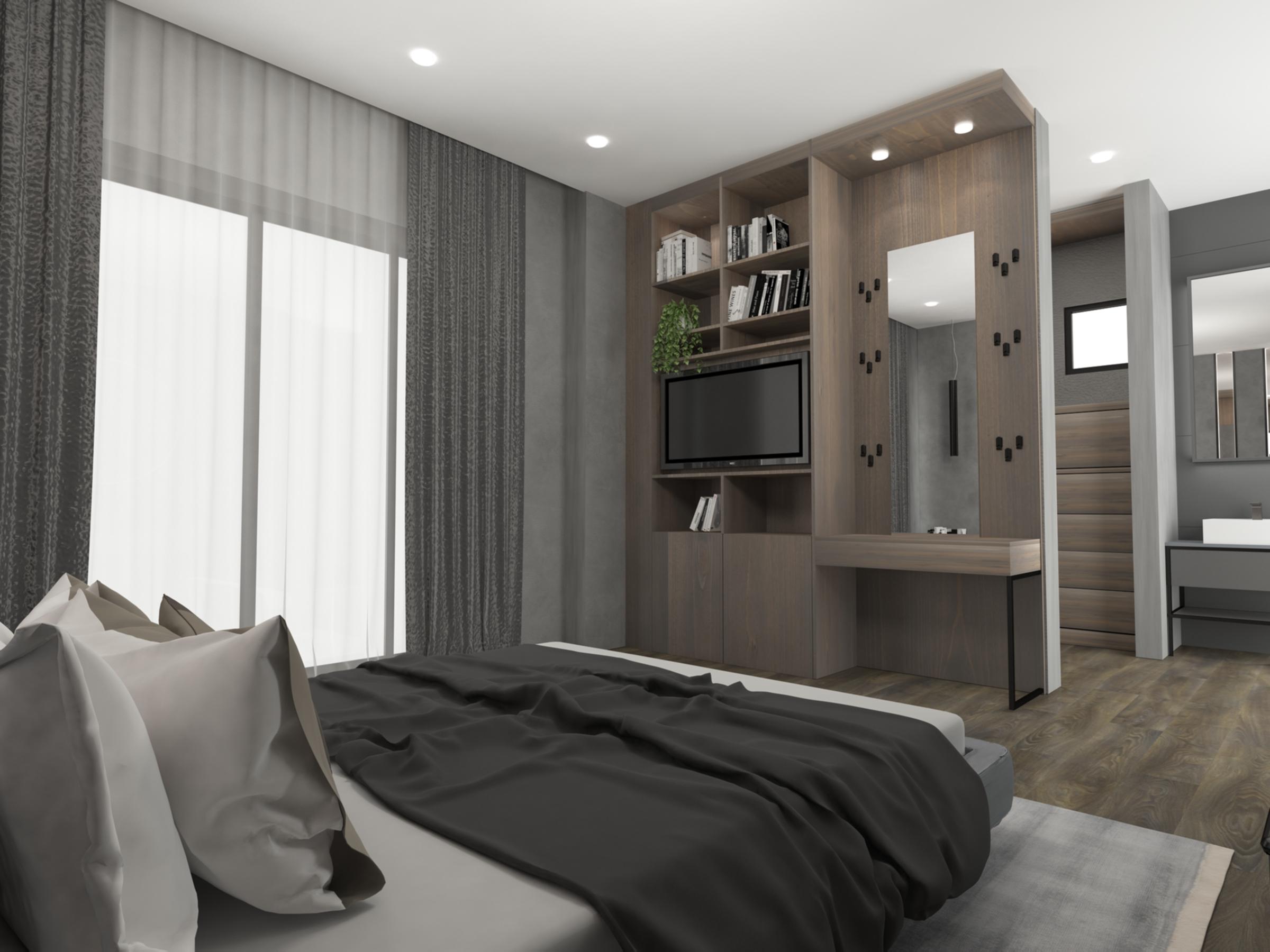 Ground master bedroom: Penthouse Apartment for Sale at Baraka Residence in Nyarutarama, Kigali