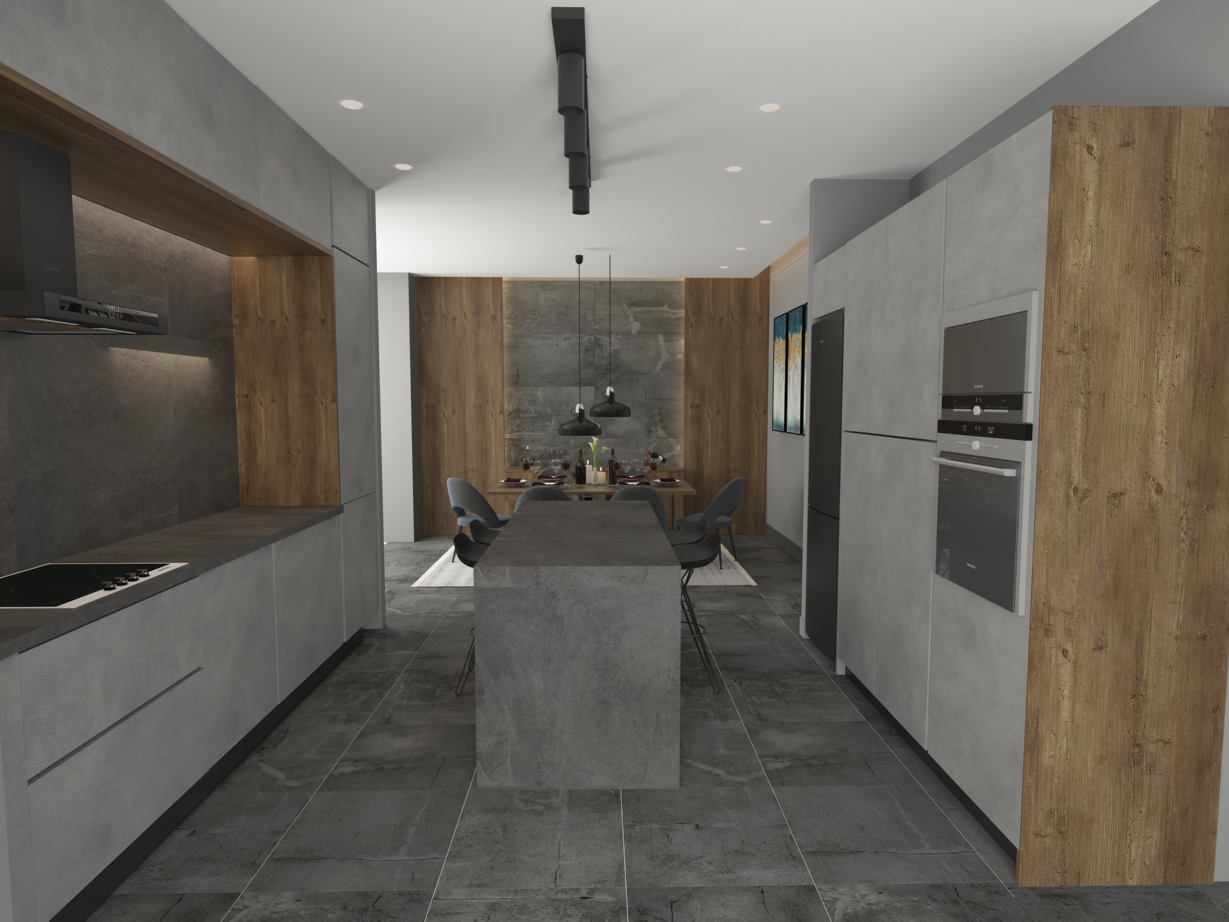 Kitchen: Penthouse Apartment for Sale at Baraka Residence in Nyarutarama, Kigali