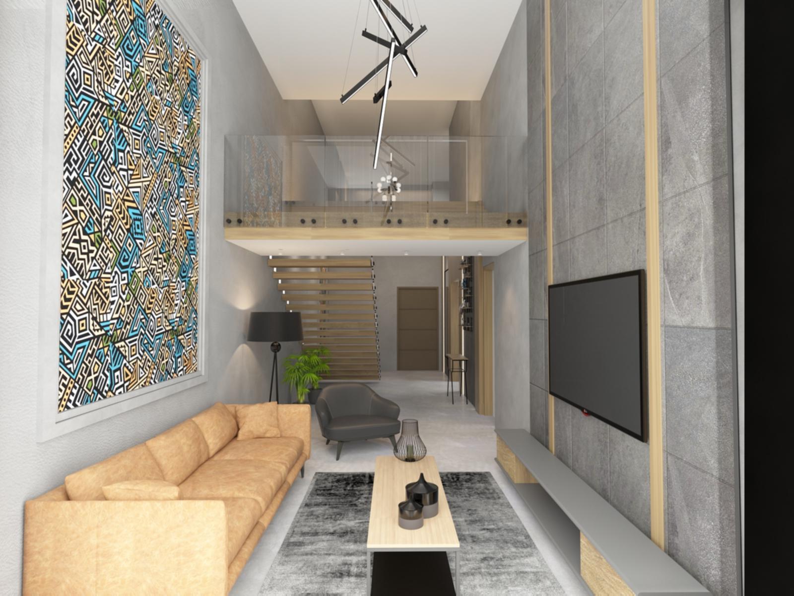 Lounge: Penthouse Apartment for Sale at Baraka Residence in Nyarutarama, Kigali