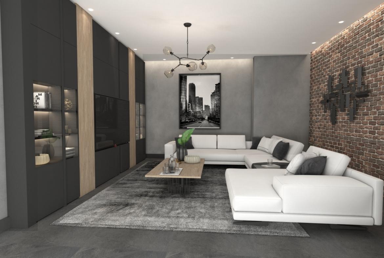 Upper lounge: Penthouse Apartment for Sale at Baraka Residence in Nyarutarama, Kigali