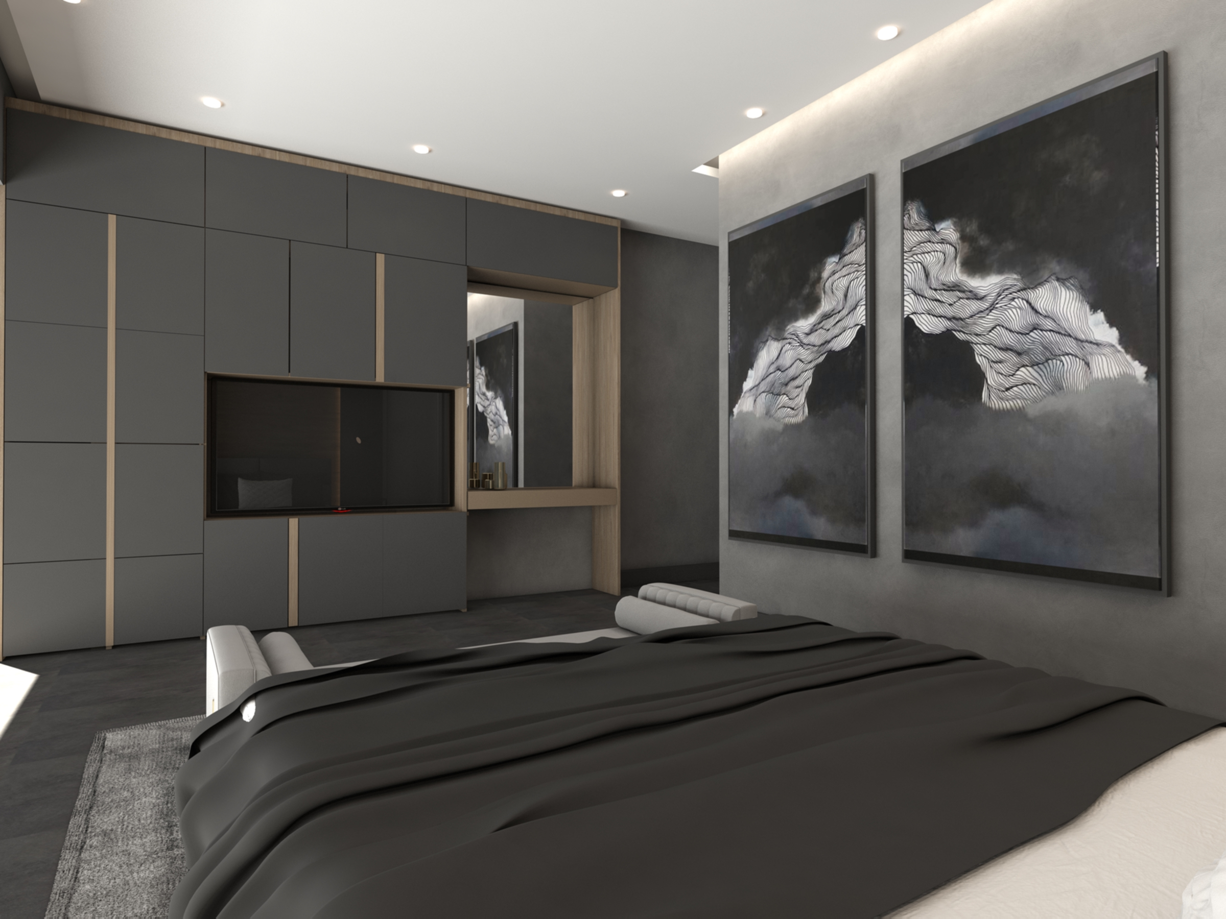 Upper Master Bedroom: Penthouse Apartment for Sale at Baraka Residence in Nyarutarama, Kigali