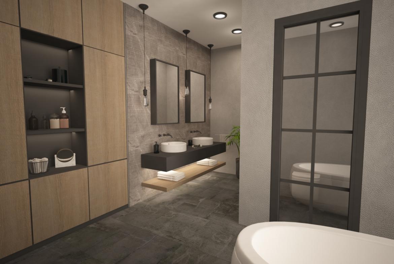 Upper Master bathroom: Penthouse Apartment for Sale at Baraka Residence in Nyarutarama, Kigali
