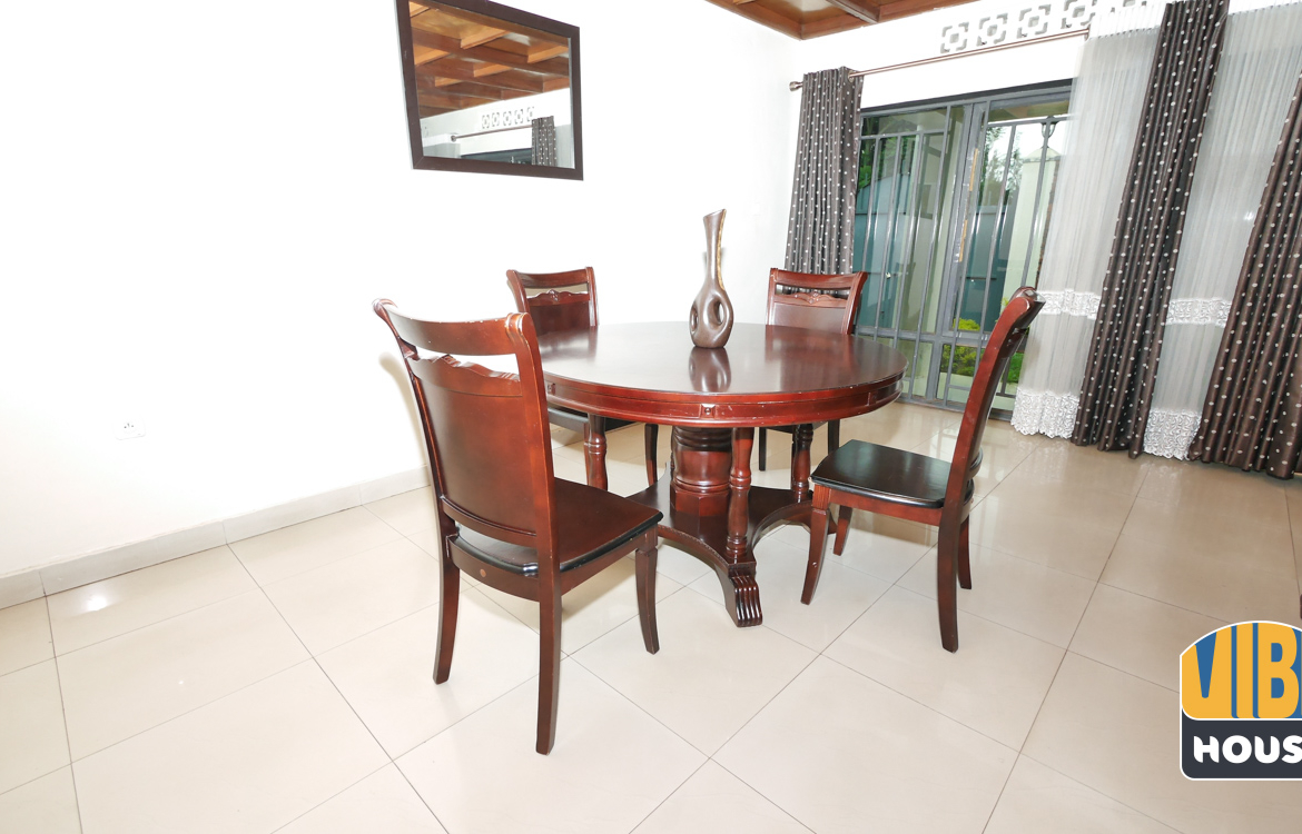 Dining area: House for rent in Nyamirambo