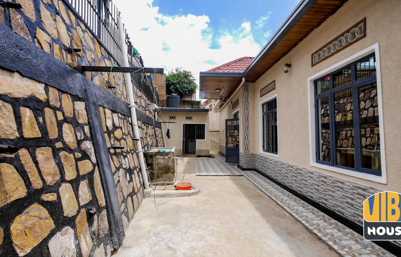 Backyard of house for rent in Kibagabaga